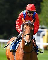 Khightfall ridden by Stevie Donohoe goes down to the start  of The M J Church Novice Stakes during Horse Racing at Salisbury Racecourse on 15th August 2019