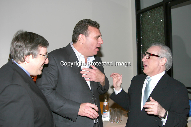 Sandy Climan, producer, Graham King, producer &amp; Martin Scorsese, director<br />