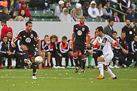 CARSON, CA - March 18,2012: DC United forward Dwayne De Rosario (7) during the LA Galaxy vs DC United match at the Home Depot Center in Carson, California. Final score LA Galaxy 3, DC United 1.