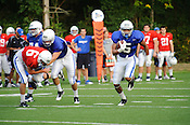August 23, 2011. Durham, NC. Duke football practice before the 2011-12 season begins.