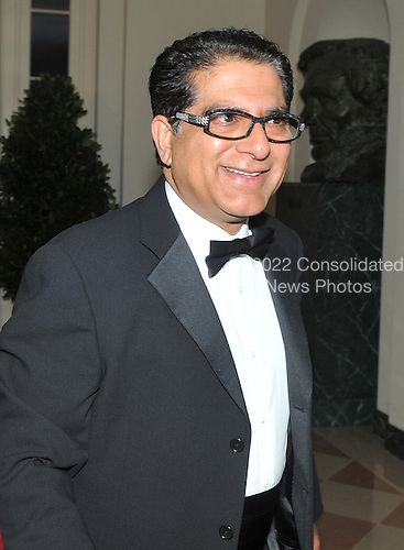 Washington, D.C. - November 24, 2009 --  Deepak Chopra arrives for the State Dinner in honor of  Dr. Manmohan Singh, Prime Minister of India at the White House in Washington, D.C. on Tuesday, November 24, 2009..Credit: Ron Sachs / CNP.(RESTRICTION: NO New York or New Jersey Newspapers or newspapers within a 75 mile radius of New York City)
