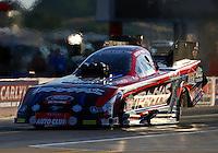 Sep 13, 2013; Charlotte, NC, USA; NHRA funny car driver Courtney Force during qualifying for the Carolina Nationals at zMax Dragway. Mandatory Credit: Mark J. Rebilas-