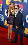 LOS ANGELES, CA. - September 07: Actress Lindsay Lohan and Paramount CEO Brad Grey arrive at the 2008 MTV Video Music Awards at Paramount Pictures Studios on September 7, 2008 in Los Angeles, California.