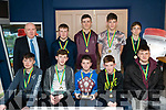 Pictured at the Kingdom Greyhound Stadium Kerry Area Basketball Board awards and medal presentation on Tuesday evening last were Killarney Cougars Under 16 boys division 2 B winners at the Kerry Basketball, front l-r: Eoghan Myers, Sean O'Brien, Joe Cahillane, Rory Murphy and Daniel Aleksejenko. Back l-r: Jerry Dwyer (Lee Strand), David Bowley, Eoin O'Donnell, Colm Talbot and Nykyta Puotkalis.