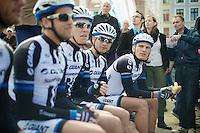 Marcel Kittel (DEU/Giant-Shimano) & teammates waiting for the start<br /> <br /> 102nd Scheldeprijs 2014