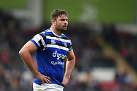 Elliott Stooke of Bath Rugby looks on. Gallagher Premiership match, between Leicester Tigers and Bath Rugby on May 18, 2019 at Welford Road in Leicester, England. Photo by: Patrick Khachfe / Onside Images