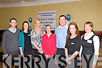 21st Anniversary Celebration : Attending the 21st anniversary celebration of the Listowel & Ardfert Physiotherapy Clinics at the Listowel Arms Hotel on Friday night last where Irish & International runner Catriona McKiernan spoke of her experiences on running were Niall Hally, Alice O'Sullivan, Aileen O'Carroll, Catriona McKiernan, Paudie Whelan, Nicole Daly & Trudy Ryan.