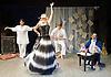 Prima La Musica<br /> Opera At Home Ensemble<br /> at The Arcola Theatre, London, Great Britain <br /> 25th August 2011 <br /> Rehearsal <br /> Grimeborn The Opera Festival<br /> directed by Jose Manuel Gandia<br /> <br /> Benjamin Gould (as Zanni 1)<br /> <br /> Leah Cooper (as Zanni 2)<br /> <br /> Victor Sgarbi (as Maestro)<br /> <br /> Alexia Mankovskaya (as Eleonora)<br /> <br /> Merrin Lazyan (as Tonina)<br /> <br /> <br /> Photograph by Elliott Franks