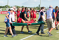 Bradenton, FL - Sunday, June 12, 2018: Medical staff, Samantha Meza during a U-17 Women's Championship Finals match between USA and Mexico at IMG Academy.  USA defeated Mexico 3-2 to win the championship.