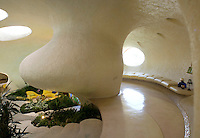 Unusual shell-shaped house built by Senosian Arquitectos in 2005. Naucalpan, Estado de Mexico, Mexico. Monday, March 31, 2008