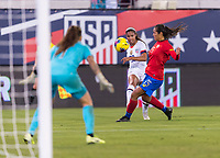 , FL - : The shot of Margaret Purce #30 of the United States deflects off of Stephanie Blanco #15 of Costa Rica during a game between  at  on ,  in , Florida.