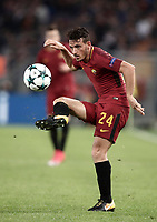 Football Soccer: UEFA Champions League AS Roma vs Chelsea Stadio Olimpico Rome, Italy, October 31, 2017. <br /> Roma's Alessandro Florenzi in action during the Uefa Champions League football soccer match between AS Roma and Chelsea at Rome's Olympic stadium, October 31, 2017.<br /> UPDATE IMAGES PRESS/Isabella Bonotto
