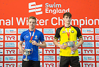 Picture by Allan McKenzie/SWpix.com - 16/12/2017 - Swimming - Swim England Nationals - Swim England Winter Championships - Ponds Forge International Sports Centre, Sheffield, England - Matthew Richards and Jacob Peters with golds in the mens's 100m butterfly.
