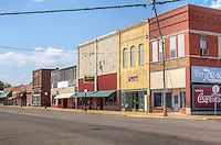 Main Street in Chelsea Oklahoma on Route 66.