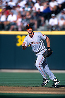 SEATTLE, WA - Jeff Kent of the San Francisco Giants in action at second base during the 2001 All Star Game at Safeco Field in Seattle, Washington in 2001. Photo by Brad Mangin