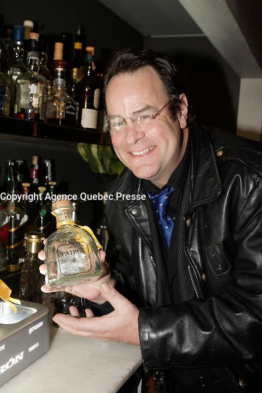 Montreal CANADA -  Dan Aykroid showcase his tequila, March 2007