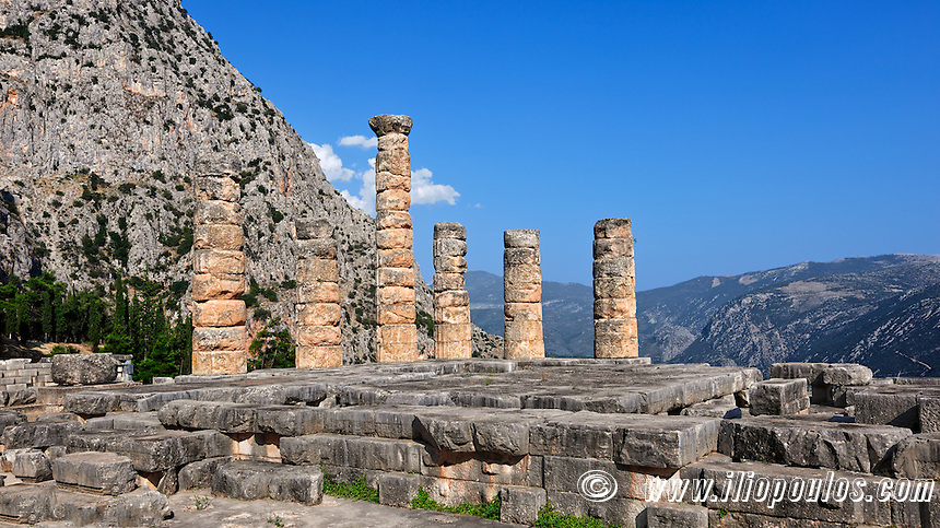 Temple of Apollo (4th cent. B.C.) in Delphi, Greece