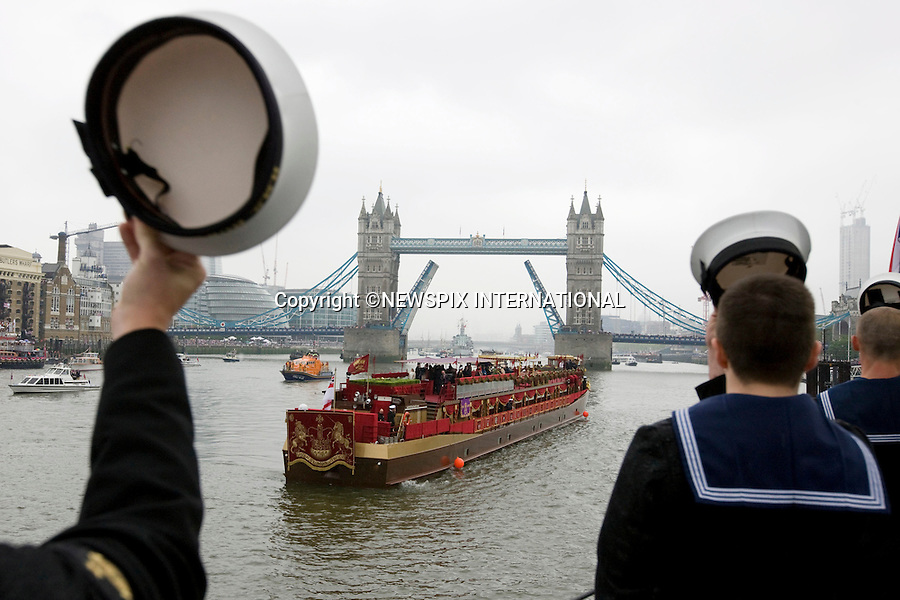 "QUEEN'S JUBILEE PAGEANT.The Royal Navy was out in force on Sunday 3rd June  with the Senior Service pulling out all the stops to celebrate the Queenís Diamond Jubilee at the River Pageant. .London. 03/06/2012.Mandatory Credit Photo: ©T Seward/NEWSPIX INTERNATIONAL..**ALL FEES PAYABLE TO: ""NEWSPIX INTERNATIONAL""**..IMMEDIATE CONFIRMATION OF USAGE REQUIRED:.Newspix International, 31 Chinnery Hill, Bishop's Stortford, ENGLAND CM23 3PS.Tel:+441279 324672  ; Fax: +441279656877.Mobile:  07775681153.e-mail: info@newspixinternational.co.uk"