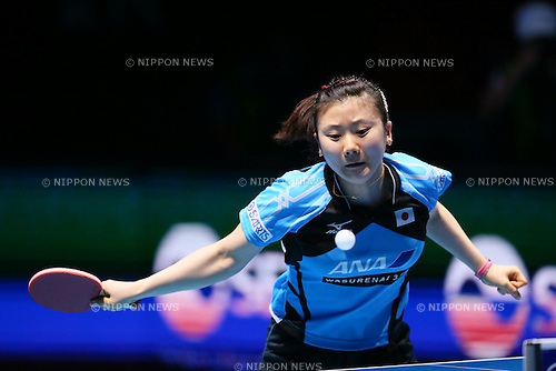 Ai Fukuhara (JPN), <br /> DECEMBER 13, 2014 - Table Tennis : <br /> GAC Group 2014 ITTF World Tour Grand Finals <br /> Women's Singles <br /> at Indoor Stadium Huamark, Bangkok, Thailand <br /> (Photo by YUTAKA/AFLO SPORT) [1040]