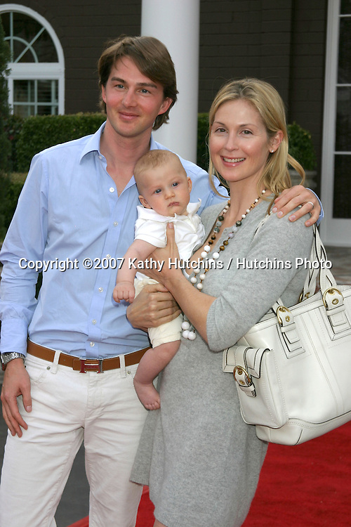 Kelly Rutherford, husband David Giersch, and Son, Hermés Gustaf Daniel Giersch.Tori Spelling  & Dean McDermott Bed and Breakfast Gala Opening.Chateau La Rue.4735 Olive Hill Road.Fallbrook, CA.March 3, 2007.©2007 Kathy Hutchins / Hutchins Photo...
