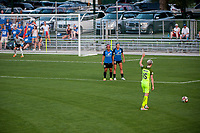 Kansas City, MO - Saturday June 17, 2017: Desiree Scott, Erika Tymrak, Megan Rapinoe during a regular season National Women's Soccer League (NWSL) match between FC Kansas City and the Seattle Reign FC at Children's Mercy Victory Field.