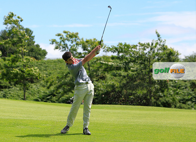 Ciaran Vaughan (Limerick) on the 15th during Round 3 of the 2016 Connacht U18 Boys Open, played at Galway Golf Club, Galway, Galway, Ireland. 07/07/2016. <br /> Picture: Thos Caffrey | Golffile<br /> <br /> All photos usage must carry mandatory copyright credit   (&copy; Golffile | Thos Caffrey)