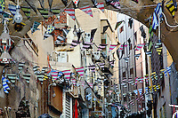 Colorful flags, Khan el Khalili Bazaar, Cairo, Egypt