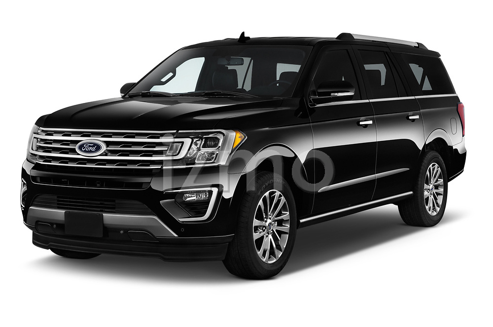 2019 Ford Expedition XLT MAX 4x2 5 Door SUV angular front stock photos of front three quarter view