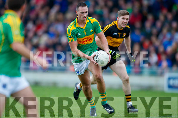 David O'Leary Dr Crokes in action against Paul O'Donoghue South Kerry in the Senior County Football Final in Austin Stack Park on Sunday