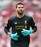 Alisson Becker of Liverpool during the FA Community Shield match between Liverpool and Manchester City at Wembley Stadium on August 4th 2019 in London, England. (Photo by John Rainford/phcimages.com)<br /> Foto PHC/Insidefoto <br /> ITALY ONLY