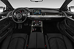 Stock photo of straight dashboard view of 2016 Audi S8 4.0-TFSI-quattro-Tiptronic-Plus  4 Door Sedan