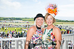Enjoying the Listowel Races Ladies Day on Sunday were l-r  Marian O'Connor, Listowel and Eileen Kennedy, Caragh Lake