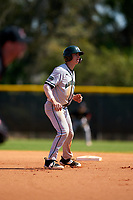 Dartmouth Big Green Trevor Johnson (36) leads off during a game against the Omaha Mavericks on February 23, 2020 at North Charlotte Regional Park in Port Charlotte, Florida.  Dartmouth defeated Omaha 8-1.  (Mike Janes/Four Seam Images)