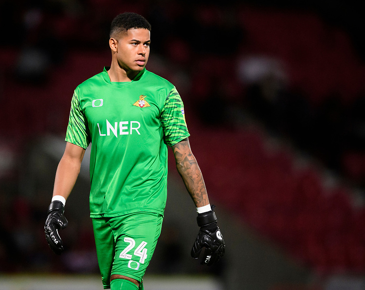 Doncaster Rovers' Seny Dieng<br /> <br /> Photographer Chris Vaughan/CameraSport<br /> <br /> EFL Leasing.com Trophy - Northern Section - Group H - Doncaster Rovers v Lincoln City - Tuesday 3rd September 2019 - Keepmoat Stadium - Doncaster<br />  <br /> World Copyright © 2018 CameraSport. All rights reserved. 43 Linden Ave. Countesthorpe. Leicester. England. LE8 5PG - Tel: +44 (0) 116 277 4147 - admin@camerasport.com - www.camerasport.com