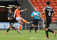 Blackpool Liam Feeney and Bradford City's Connor Wood<br /> <br /> Photographer Rachel Holborn/CameraSport<br /> <br /> The EFL Sky Bet League One - Blackpool v Bradford City - Saturday September 8th 2018 - Bloomfield Road - Blackpool<br /> <br /> World Copyright &copy; 2018 CameraSport. All rights reserved. 43 Linden Ave. Countesthorpe. Leicester. England. LE8 5PG - Tel: +44 (0) 116 277 4147 - admin@camerasport.com - www.camerasport.com