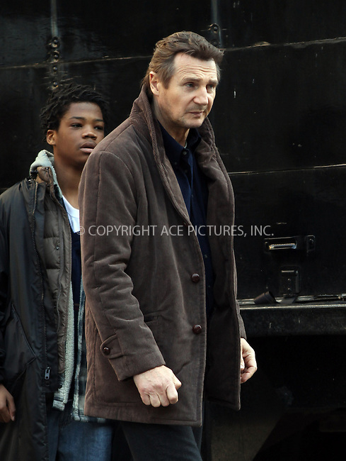 WWW.ACEPIXS.COM....March 19 2013, New York City....Actor Liam Neeson was on the Brooklyn set of the new movie 'A Walk Among the Tombstones' on March 19 2013 in New York City......By Line: Zelig Shaul/ACE Pictures......ACE Pictures, Inc...tel: 646 769 0430..Email: info@acepixs.com..www.acepixs.com