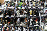 February 19, 2017, Chiba, Japan - Japan's toy maker Tomy displays figures of Star Wars at the Wonder Festival 2017 Winter in Chiba, suburban Tokyo on Sunday, February 19, 2017. Tens of thousands people visited one-day garage kits and plastic -models trade show hosted by Osaka based toy maker Kaiyodo.    (Photo by Yoshio Tsunoda/AFLO) LwX -ytd-