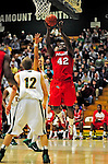 12 December 2010: Marist College Red Foxes' center Menelik Watson, a Redshirt Freshman from Manchester, England, in action against the University of Vermont Catamounts at Patrick Gymnasium in Burlington, Vermont. The Catamounts (7-2) defeated the Red Foxes 75-67 notching their 7th win of the season, and their best start since the '63-'64 season. Mandatory Credit: Ed Wolfstein Photo