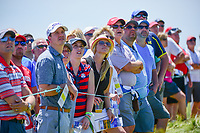 Avid golf fans brave the sun and heat to watch play at the 13th tee during Friday's round 2 of the 117th U.S. Open, at Erin Hills, Erin, Wisconsin. 6/16/2017.<br /> Picture: Golffile | Ken Murray<br /> <br /> <br /> All photo usage must carry mandatory copyright credit (&copy; Golffile | Ken Murray)