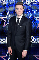 Roman Kemp<br /> arriving for the Global Awards 2018 at the Apollo Hammersmith, London<br /> <br /> ©Ash Knotek  D3384  01/03/2018