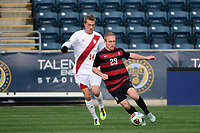 Chester, PA - Sunday December 10, 2017: Derek Waldeck, Griffin Dorsey. Stanford University defeated Indiana University 1-0 in double overtime during the NCAA 2017 Men's College Cup championship match at Talen Energy Stadium.