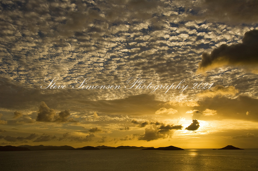 Savannah Bay Sunset from Katitche Point<br /> Virgin Gorda<br /> British Virgin Islands