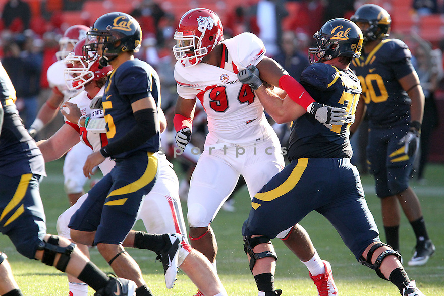 DONAVAUGHN PRITCHETT, of the Fresno State Bulldogs, in action during Fresno State's  game against the California Golden Bears, on September 03, 2011 Candlestick Park in San Francisco, CA. Cal beat Fresno State 36-21.