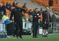 Oxford United manager Karl Robinson shouts instructions to his team from the dug-out <br /> <br /> Photographer Kevin Barnes/CameraSport<br /> <br /> The EFL Sky Bet League One - Blackpool v Oxford United - Saturday 23rd February 2019 - Bloomfield Road - Blackpool<br /> <br /> World Copyright © 2019 CameraSport. All rights reserved. 43 Linden Ave. Countesthorpe. Leicester. England. LE8 5PG - Tel: +44 (0) 116 277 4147 - admin@camerasport.com - www.camerasport.com