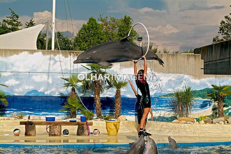 Show de golfinhos. Zoológico de Madrid. Espanha. 2008. Foto de Catherine Krulik.