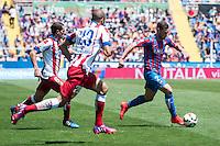 VALENCIA, SPAIN - MARCH 10: Ivan Lopez during BBVA LEAGUE match between Levante U.D. Andr Atletico de Madrid at Ciudad de Valencia Stadium on March 10, 2015 in Valencia, Spain