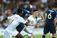 Phil Foden of England celebrates with team mates after scoring a goal<br /> Cesena 18-06-2019 Stadio Dino Manuzzi <br /> Football UEFA Under 21 Championship Italy 2019<br /> Group Stage - Final Tournament Group C<br /> England - France<br /> Photo Cesare Purini / Insidefoto