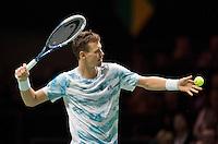 Februari 13, 2015, Netherlands, Rotterdam, Ahoy, ABN AMRO World Tennis Tournament, Tomas Berdych (CZE)<br /> Photo: Tennisimages/Henk Koster