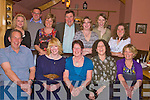 Ruth Collins, Tiernaboul, Killarney, seated centre, pictured with Andrew Collins, Mary Kate Galvin, Sharon Collins, Audrey Quirke, Sharon Quirke, Phil Richardson, Romi Buhles, John Galvin, Karen Smith, Karen Nickolson and Becky Richardson as she celebrated her 60th birthday in Beaufort Bar on Saturday night. ........