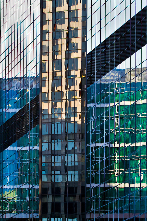 Architectural abstract reflections - Downtown Pittsburgh buildings